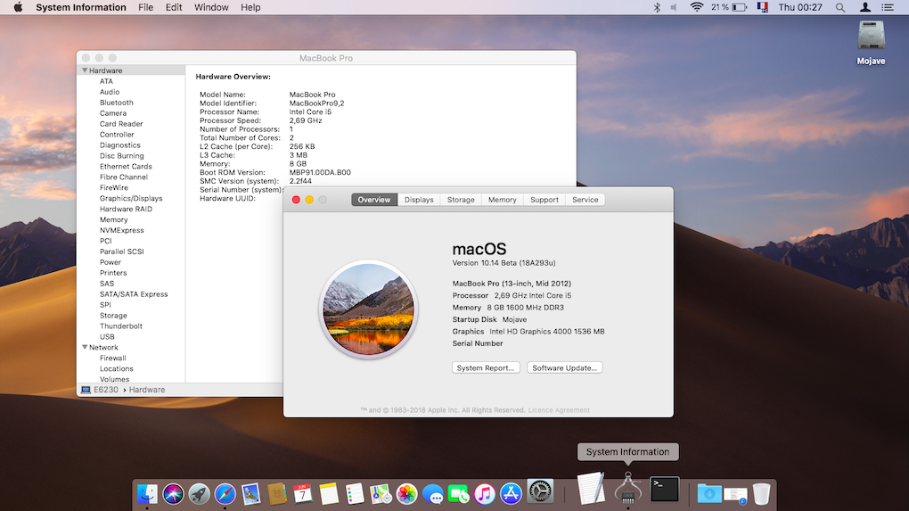 macOS 10 14 Mojave Betas Releases - macOS Mojave